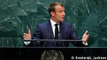 UN-Generalversammlung in New York | Emmanuel Macron, Präsident Frankreich