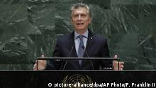USA | Argentiniens Präsident Mauricio Macri | United Nations New York