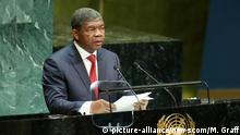 Angola President Joao Lourenco speaks at the 74th General Debate at the United Nations General Assembly at United Nations Headquarters in New York City on Tuesday, September 24, 2019. Photo by Monika Graff/UPI Photo via Newscom picture alliance |
