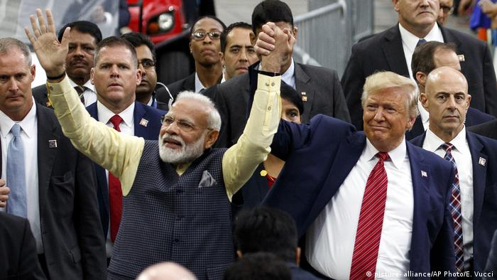 India's PM and the US President holding hands