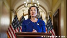 Democratic Speaker of the House from California Nancy Pelosi announces the House will begin a formal impeachment inquiry into US President Donald J. Trump in the US Capitol in Washington, DC, USA, September 24, 2019. Speaker Pelosi faced increased pressure to begin an impeachment inquiry, with more and more democratic lawmakers saying they favor the move after whistleblower accusations against President Trump and his dealings with Ukraine. Photo by Jim LoScalzo/CNP/ABACAPRESS.COM |