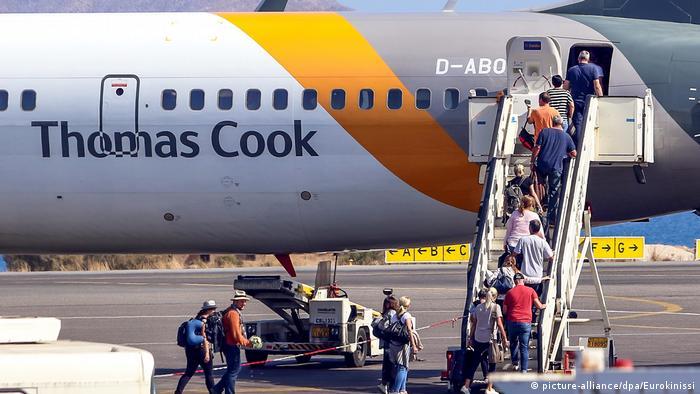 Thomas Cook tourists at Creta