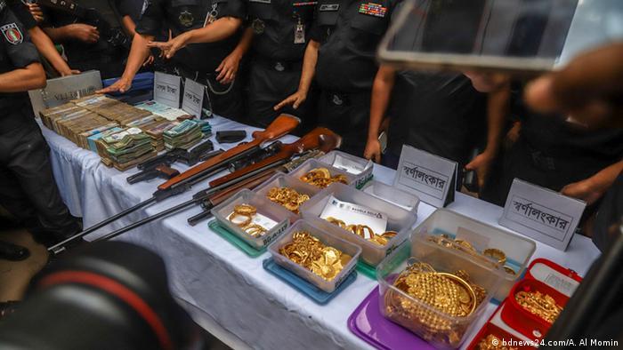 Bangladesch Polizei-Razzia gegen die Awami League (bdnews24.com/A. Al Momin )