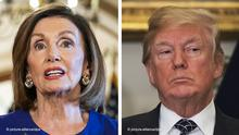 Bildkombo Nancy Pelosi und Donald Trump Impeachment