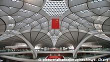 04.09.2019, China, Peking: View of the inside of the Beijing Daxing International Airport in Beijing, China, 4 September 2019. Foto: Liu Chang/Imaginechina/dpa |
