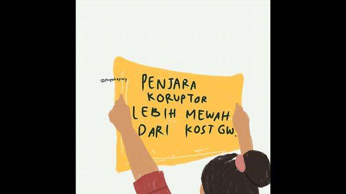 Indonesien   Illustrationen zu Studentenprotesten