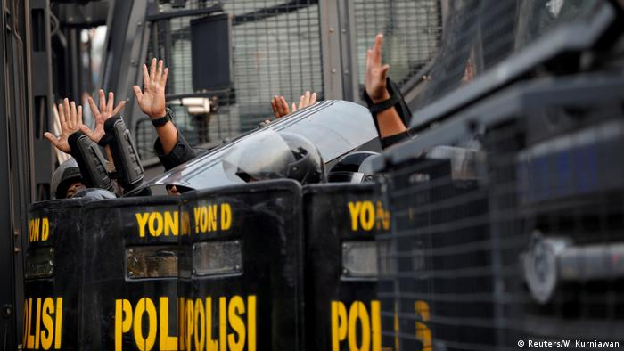 Indonesien Jakarta | Studentenproteste vor dem Parlament