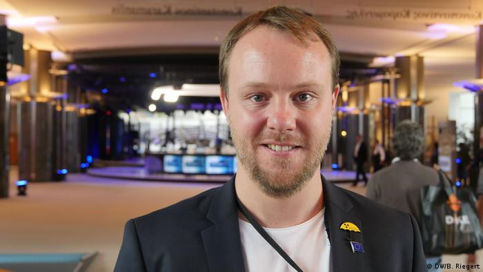 Daniel Freund - Europaparlament, Abgeordneter Bündnis90/Die Grünen (DW/B. Riegert)