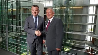 Bundestag Besuch Sozialistische Partei Albaniens | Taulant Balla & J. Juratovic (DW)