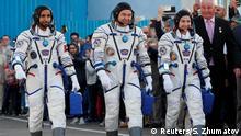 Kasachstan Start Sojus MS-15 der ISS | Kosmodrom Baikonur | Crew