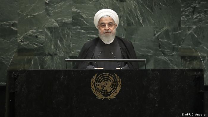 Presidente do Irã, Hassan Rohani, discursa na ONU