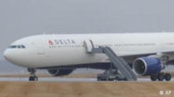 Northwest Airlines Flight 253 on the runway
