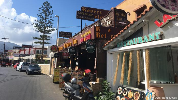 Tourismus Kreta Griechenland Rover's Return Pub in Stalis, Kreta