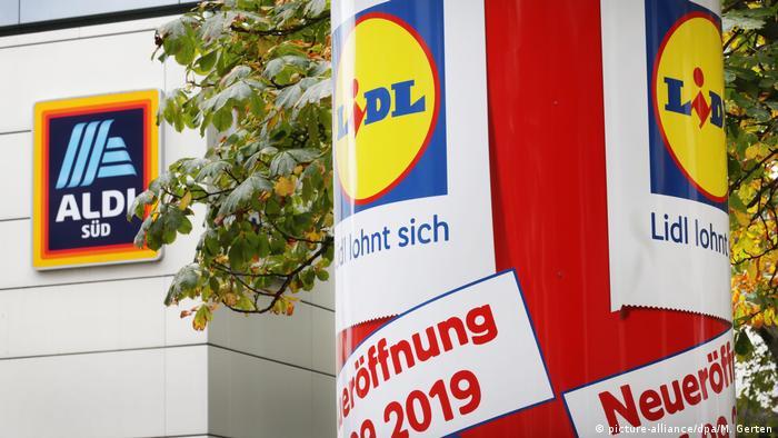 Логотипы немецких супермаркетов Aldi Süd и Lidl
