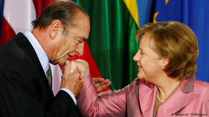Merkel con Jacques Chirac.
