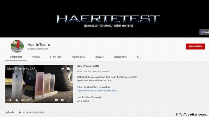 YouTube Screenshot - Haertetest (YouTube/Haertetest)