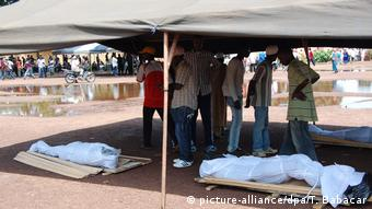 Les dépouilles de certaines victimes du massacre du 28 septembre 2009 à Conakry