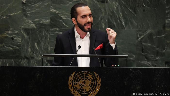 USA UN Generalversammlung Nayib Bukele Präsident von Salvador (Getty Images/AFP/T. A. Clary)