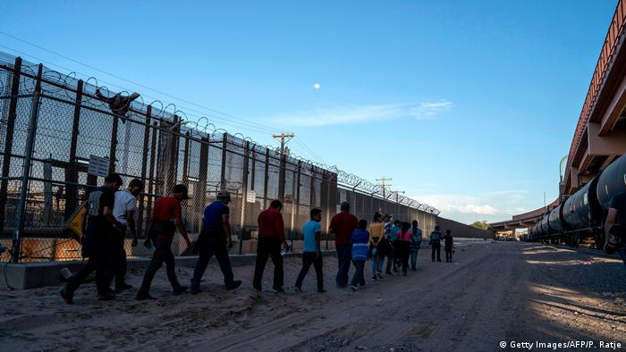 Refugees at the US border in Texas