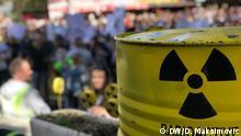 Die Demo gegen Atommuell auf der bosnisch-kroatischen Grenzen