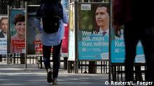Österreich Wahlen Wahlkampf Wahlplakate