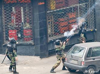 برخورد شدید نیروهای امنیتی با مردم در روز عاشورا