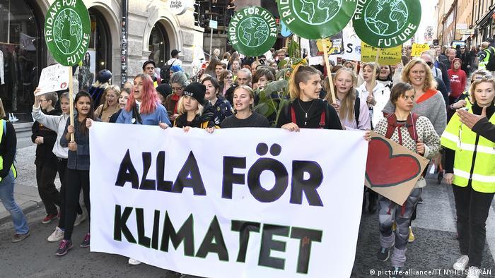 Friday for Future climate strike, Sweden (picture-alliance/TT NYHETSBYRÅN)