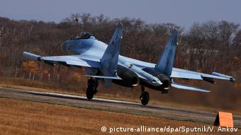 Russland SU-35 fighter Jet (picture-alliance/dpa/Sputnik/V. Ankov)