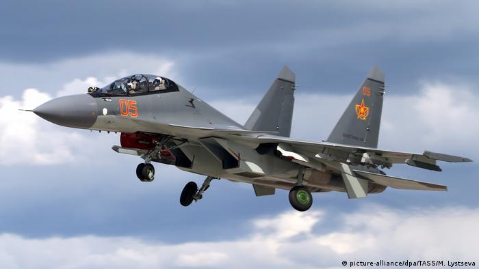 SU-35 fighter Jet (picture-alliance/dpa/TASS/M. Lystseva)