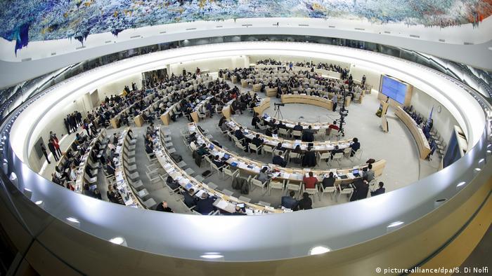 Sessão do Conselho de Diretos Humanos das Nações Unidas, em Genebra
