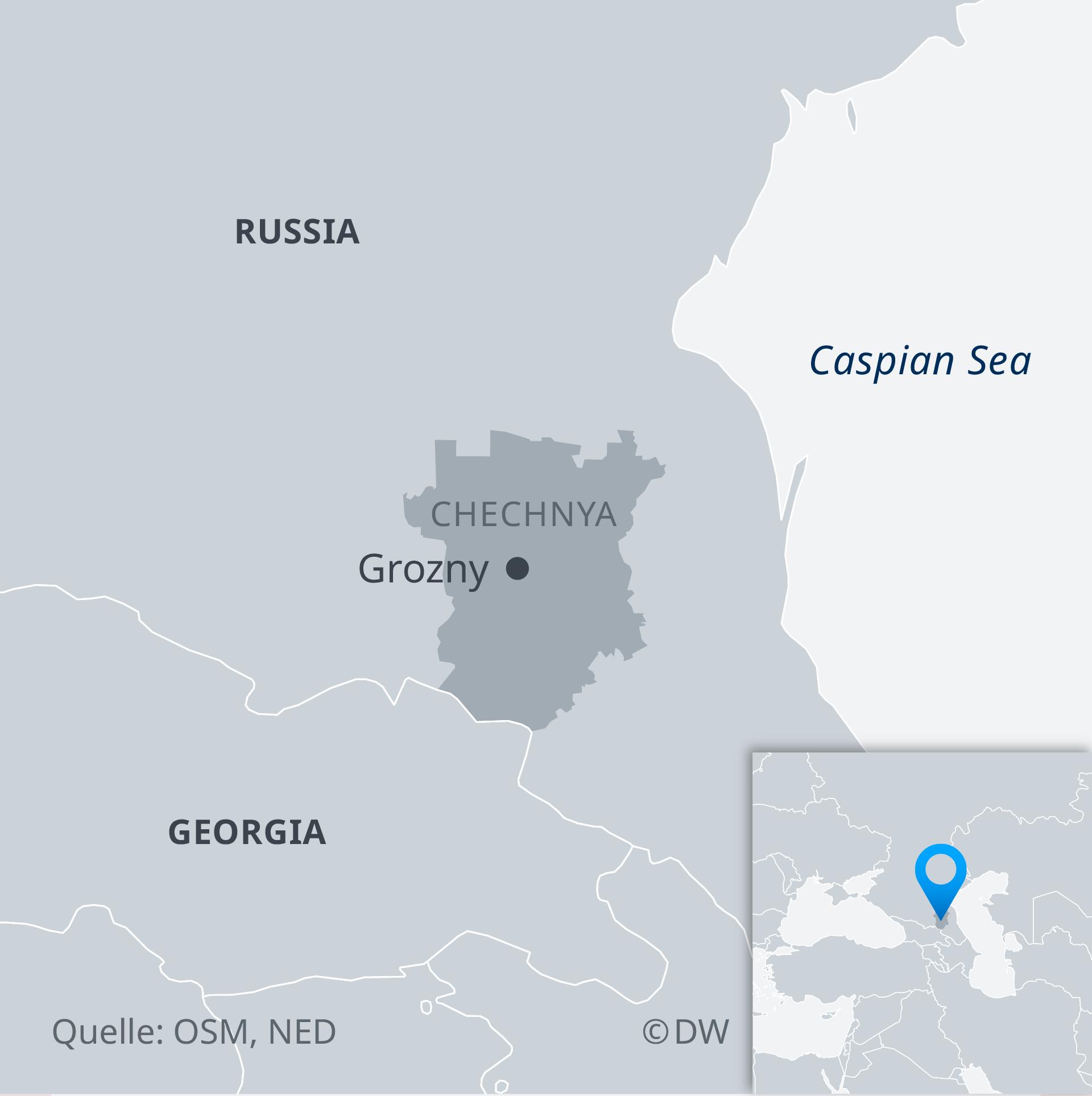 Karte Tschetschenien EN
