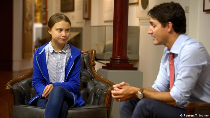 Greta Thunberg and Justin Trudeau