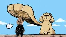 Kariktaur von Céline Rübbelke zu Ägypten