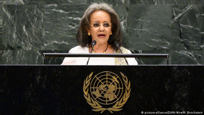Ethiopia's President Sahle-Work Zewde (picture-alliance/ZUMA Wire/M. Brochstein)
