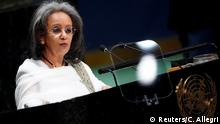 26.09.2019 President of Ethiopia Sahle-Work Zewde addresses the 74th session of the United Nations General Assembly at U.N. headquarters in New York City, New York, U.S., September 26, 2019. REUTERS/Carlo Allegri
