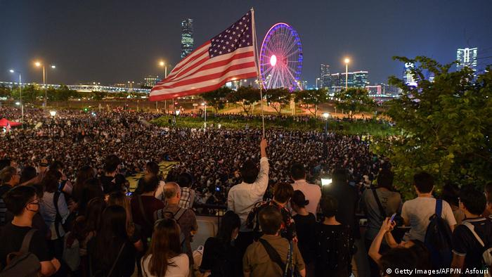 Hongkong Anti-Regierungs-Protestbewegung (Getty Images/AFP/N. Asfouri)