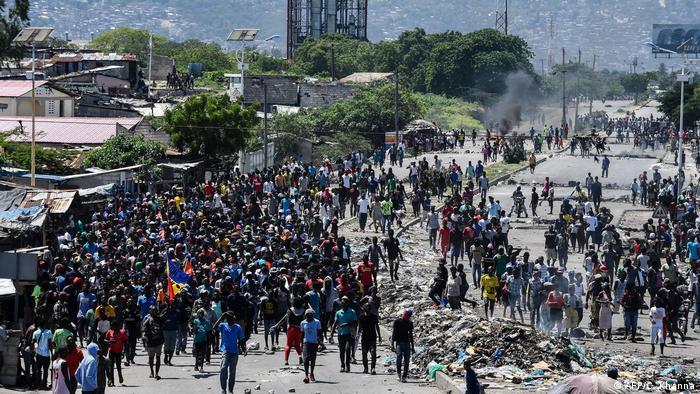 Haiti Proteste in Port-au-Prince (AFP/C. Khanna)