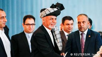 Der afghanische Präsidentschaftskandidat Ashraf Ghani bei den Präsidentschaftswahlen in Kabul, Afghanistan