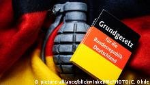 Hnad grenade with flag of Germany