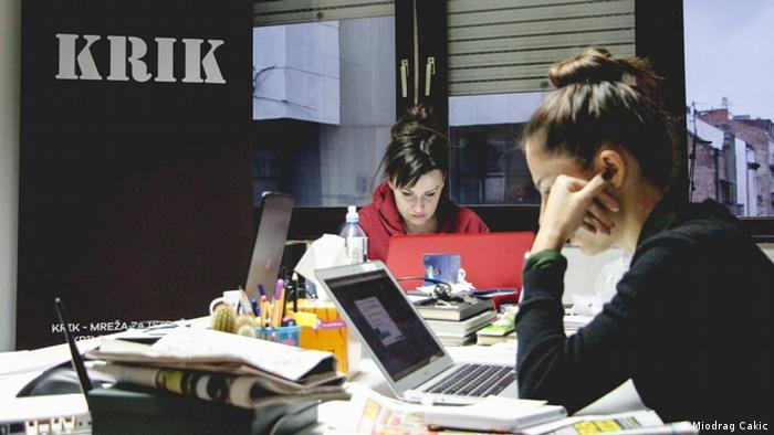 Belgrader Redaktion des Onlinedienstes Raskrinkavanje