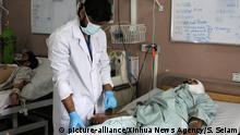 Verletzter vom Bombenanschlag während der Wahlen in Kandahar, Afghanistan
