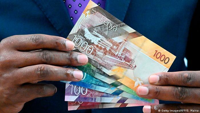 Kenia Währung Schilling Geldscheine