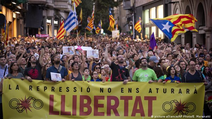 Spanien Protest in Sabadell
