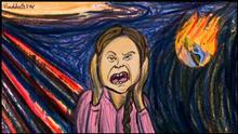 Karikatur von Vladdo El grito de Greta