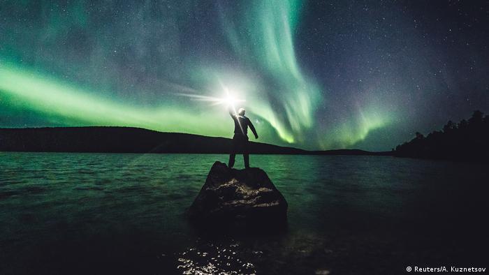 BdTD Finnland   Aurora Borealis, Polarlicht in Ivalo, Lappland