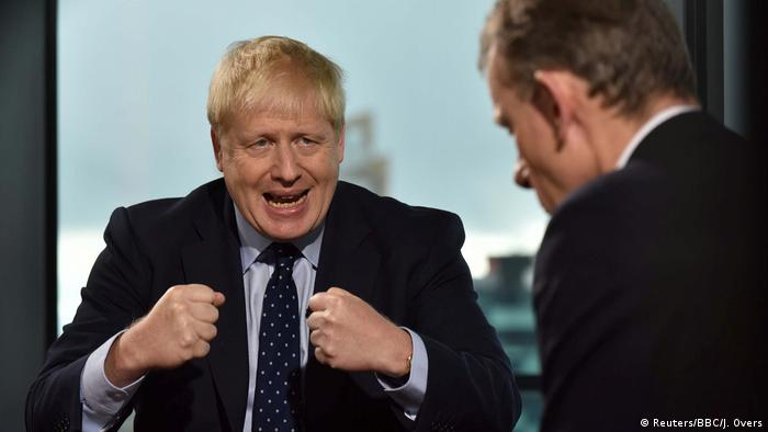 Premierminister Boris Johnson im BBC TV Interview Andrew Marr Show