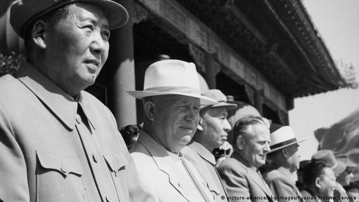Chruschtschow u. Mao Peking 1959 - Khrushchev & Mao in Beijing 1959 (picture-alliance/akg-images/Russian Picture Service)