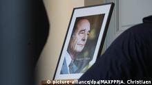 29.09.2019, Frankreich, Lille: ©PHOTOPQR/VOIX DU NORD - Jacques Chirac - hommage populaire aux Invalides à Paris. Photo Alexis Christiaen (Pib) - La Voix du Nord. public memorial ceremony for former French President Jacques Chirac, on September 29, 2019 in Paris Foto: Alexis Christiaen (pib)/MAXPPP/dpa |
