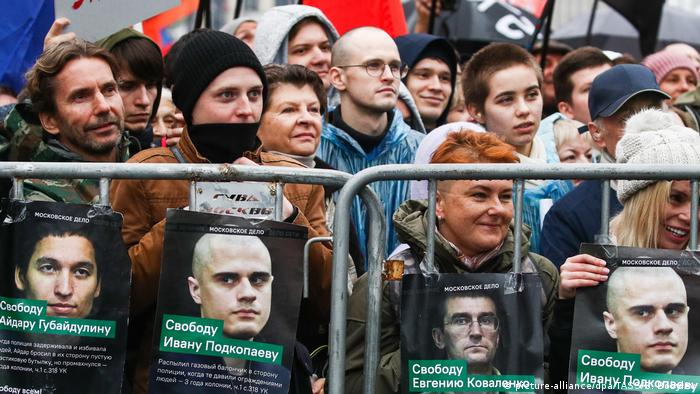 Demonstration der Opposition in Moskau (Foto: Gpicture-alliance/dpa/TASS/S. Bobylev)