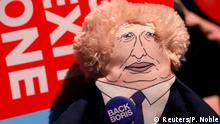 29.09.2019, A doll depicting Britain's Prime Minister Boris Johnson is pictured during the Conservative Party annual conference in Manchester, Britain, September 29, 2019. REUTERS/Phil Noble